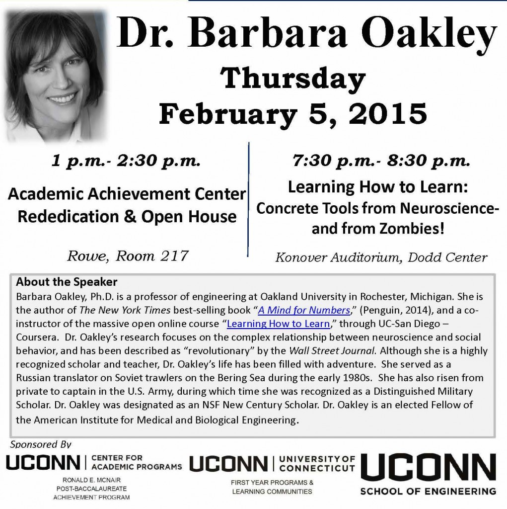 Dr  Barbara Oakley Flier
