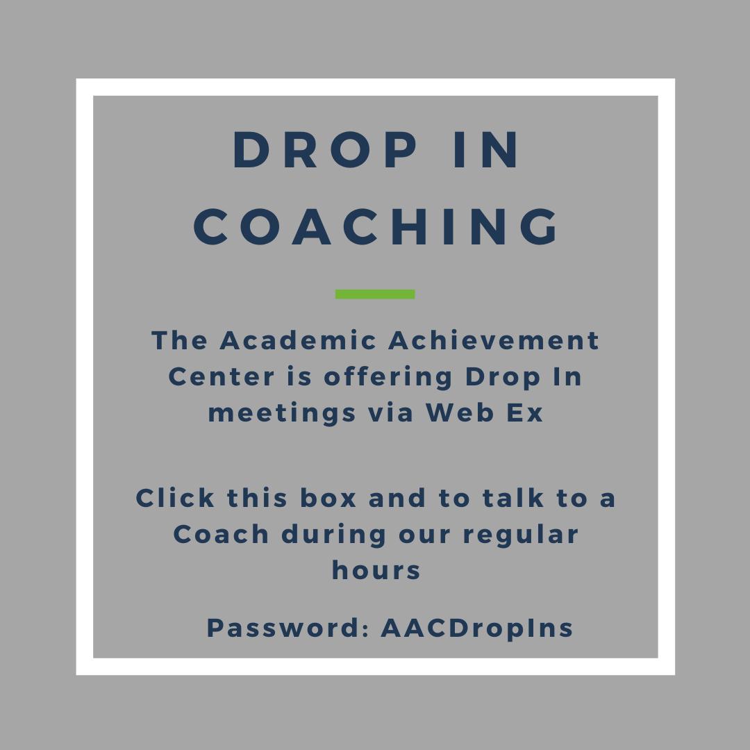 Drop in Coaching