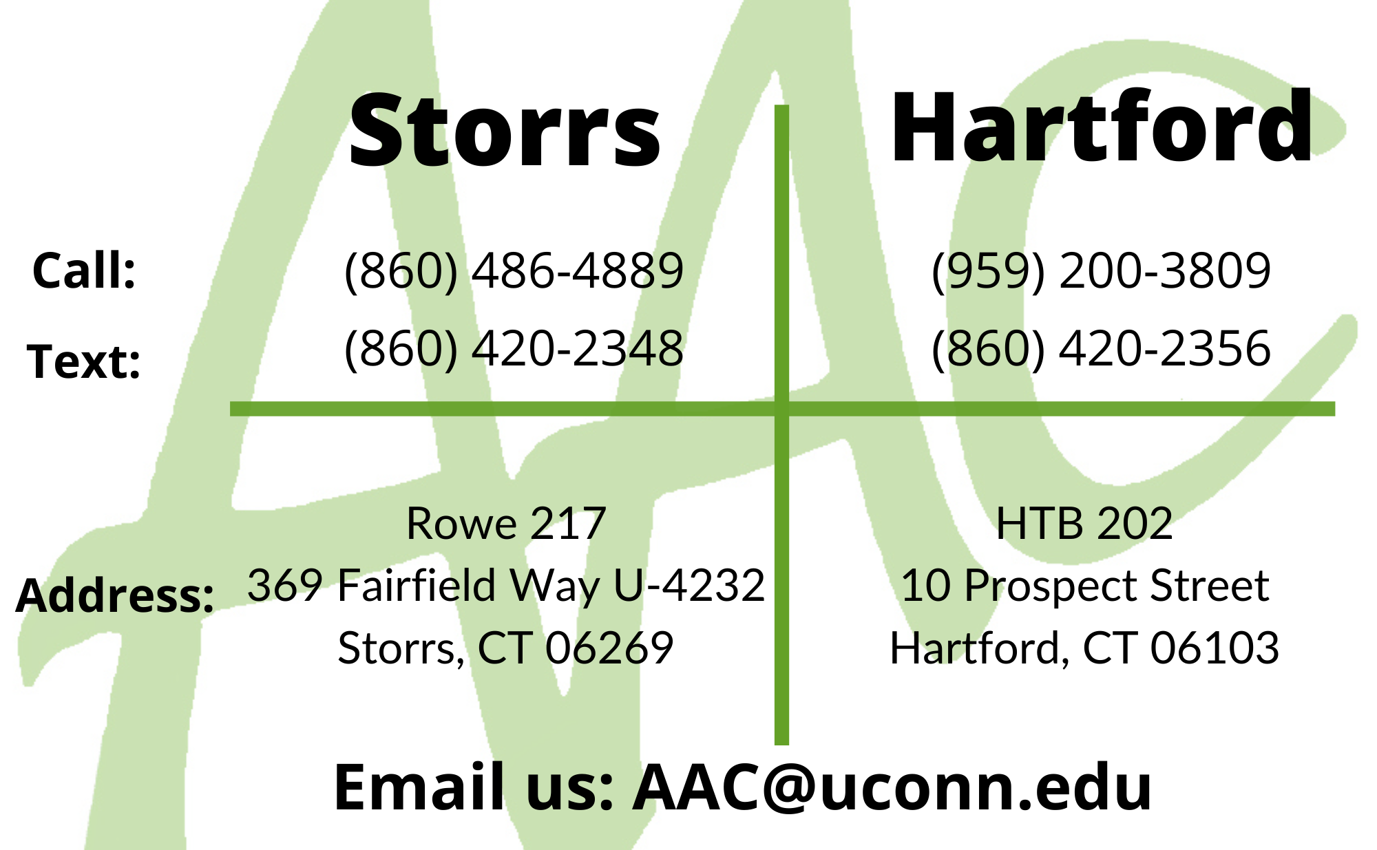 AAC Contact Information
